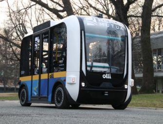 Reggio. In piazza Prampolini 'Olli', navetta elettrica a guida autonoma per la Mediopadana