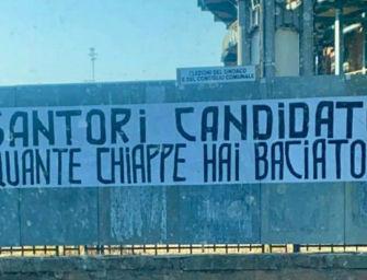 A Bologna striscione contro Santori